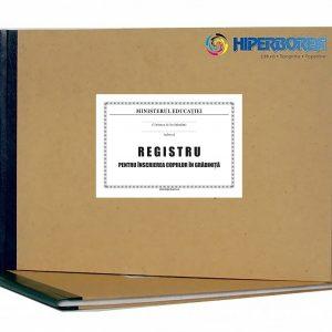 Registru pentru înscrierea copiilor în grădiniţe