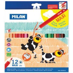 Creioane colorate Milan Maxi 12 culori-0