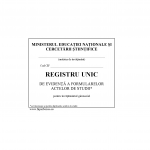 Registru unic evid. inv. gimnazial, coperta carton duplex-39612