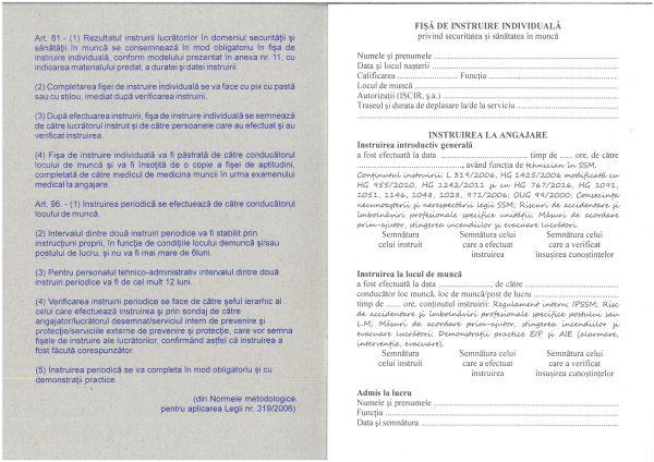 Fişă individuală de securitate şi sănătate în muncă-39869