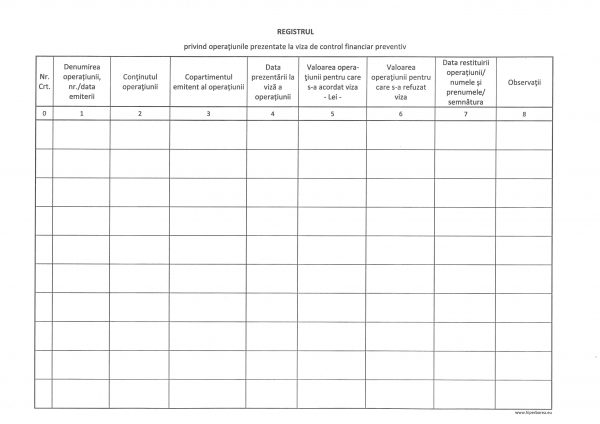 Registru control financiar preventiv propriu, coperta carton gros-hartie-39862