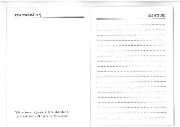 Carnet de elev pentru clasele V – VIII-39886