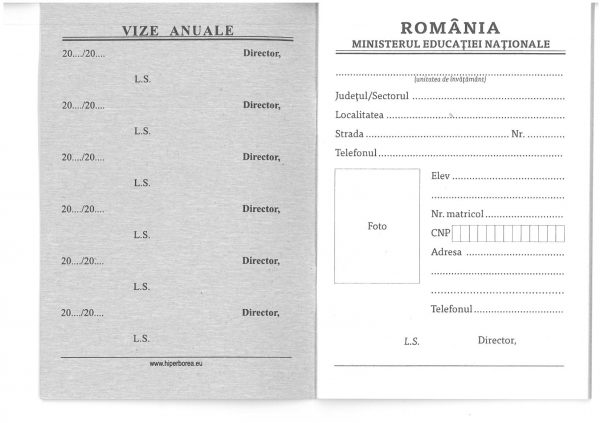 Carnet de elev pentru clasele V – VIII-39881