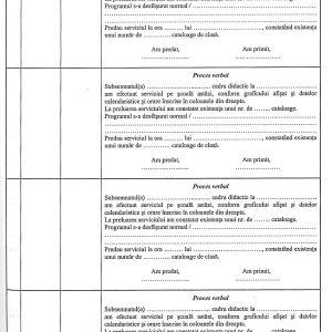 Registru evidenţă a serviciului pe şcoală cadre didactice-37086