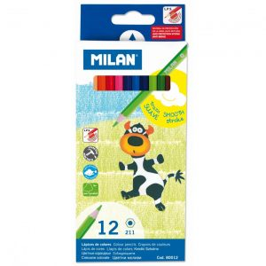 Creioane Colorate Milan, 12 Nuante-0