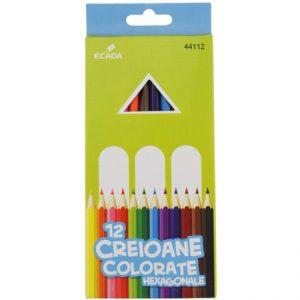 Creioane colorate Ecada, 12 Nuante-0