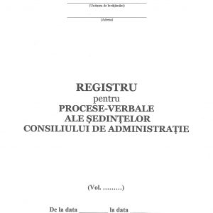 Registru procese-verbale ale ședințelor consiliului administrativ-38418