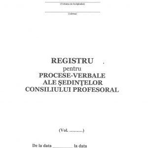Registru procese-verbale ale ședințelor consiliului profesoral-38421