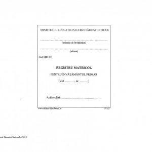 Registru matricol pentru învătământul primar, coperta carton-imitatie piele-38435