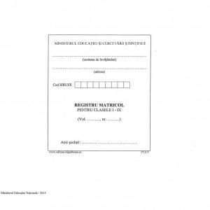Registru matricol pentru învăţământ primar şi gimnazial, coperta tare-imitatie piele-38424