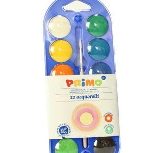 Acuarele Primo 12 culori + 1 pensula