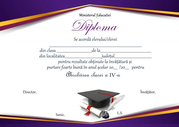 A_09 Diploma Premiu clasa a 4-a